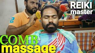 Reiki master Comb head massage and eye, shoulder, neck, ear massage ASMR videos.