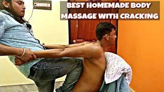 Indian Homemade massage | Head and body massage | Neck cracking | Relaxing ASMR