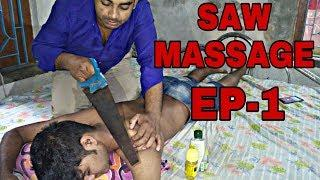 SAW MASSAGE | HEAD AND UPPER BODY MASSAGE | VERY RELAXING | WATCH FOR SLEEP |