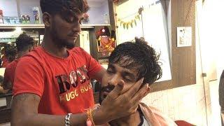 ASMR Indian Barber Head Massage With Neck Cracking