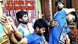 Kung Fu style Indian head and body massage therapy with neck cracking | powerful ASMR