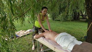 II. МАССАЖ СПИНЫ в парке / The 2-nd part of BACK MASSAGE IN THE PARK