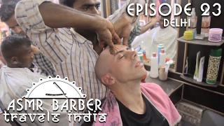 Quick and Powerful Head and Arms Massage at Indian Barber shop - ASMR intentional