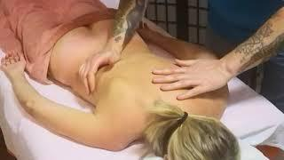 Back massage. Chiropractic. Manual therapy. Массаж спины, мануальная терапия.