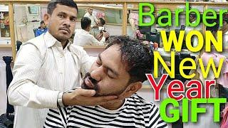 ASMR head massage with neck and ear cracking by Indianbarber