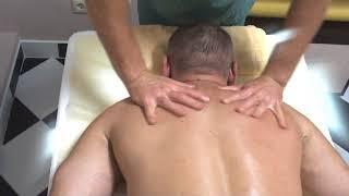 Расслабляющий массаж шейно-воротниковой зоны.