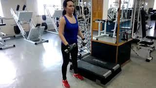 Подъемы на носки стоя с гантелями икроножные мышцы