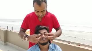 РЕЛАКС массаж головы - лица и тела! Смотреть индийский массаж.
