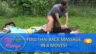 Full Thai Back Massage in 4 Moves