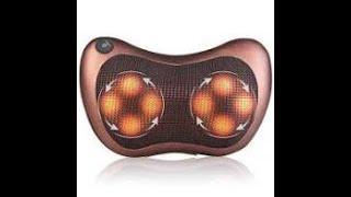 Массажная подушка для шеи и спины 8 шариков Massage pillow Роликовый массажер-подушка для тела