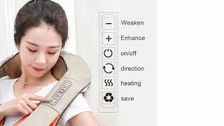 Электрический массаж шиацу плечо массажер для тела многофункциональный шаль обогреваемый