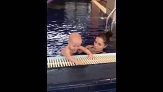 После регулярных тренировок - переходим на большой бассейн. Елена Ившина.