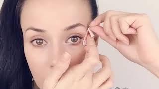 Убрать морщинки, гусиные лапки вокруг глаза - Кинезио тейп для лица
